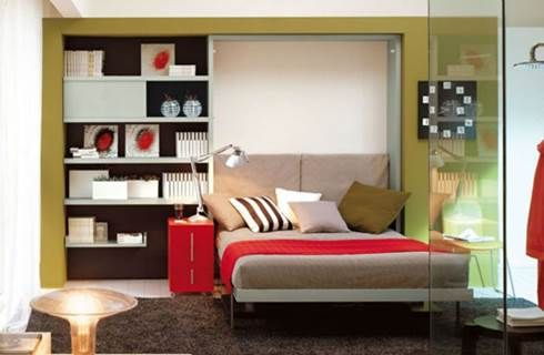 10 idee per arredare la camera da letto piccola donnaclick. Black Bedroom Furniture Sets. Home Design Ideas